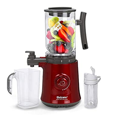 Balzano Yoga Blender/Smoothie Maker/Juicer/Soup Maker with Auto Seed Separation and Immunity Booster - Metallic Red 9