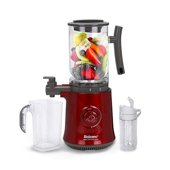 Balzano Yoga Blender/Smoothie Maker/Juicer/Soup Maker with Auto Seed Separation and Immunity Booster - Metallic Red 1