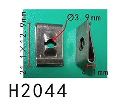 Tope delantero cubierta push-tipo clip de retención, Modelo PF-C1313 (paquete de 20): Amazon.es: Coche y moto