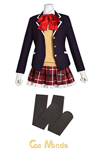 Japan Anime Takanashi Rikka Uniform Cosplay Costume Full Set (Standard Size)