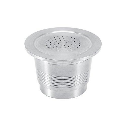 Filtro de café – café reutilizable Cápsula Verter sobre Filtro de café for la máquina de Nespresso con 1 cuchara de plástico, 4.5-5g