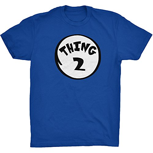 Amazing Couple Halloween Costumes (CUSC THING 2 Adult Unisex T-shirt Family Couple Halloween Costume Dr.Cat Tee Royal Blue XXX-Large)