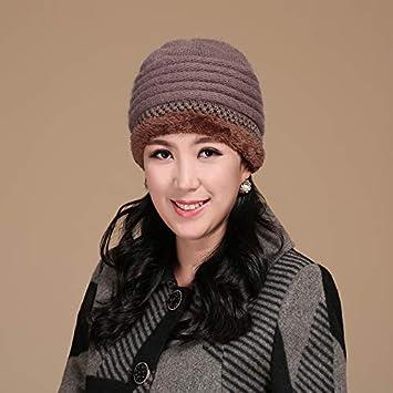Yukun Gorro de lana Sombrero Mayor Mujer Otoño E Invierno Sombrero ...