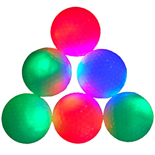 6-piece Pack Colorful Golf Balls Surlyn Golf Balls for Golf Course (JT-003) -
