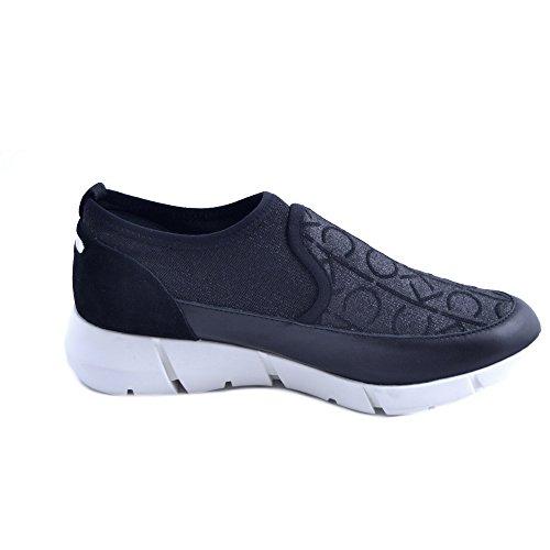 Calvin Klein Slipon Chaussures Femme Logo Tissu Glitter Noir Taille 40