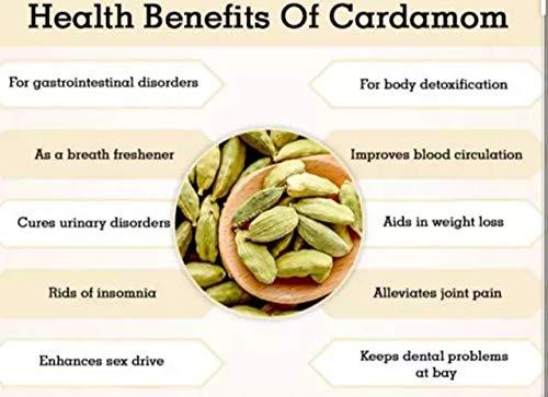 Haw Green Cardamom Pods 100 Grams| Natural Whole Cardamom Pods 3.5 Ounces| Natural Spice Cardamom for Biryani, Tea… Salted Salad