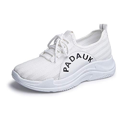 Ginnastica Fitness Basse Sneaker Donna Da Scarpe Bianco Sports Chenqi Running 7EqZT8ww