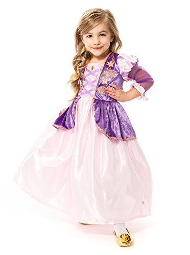 Little Adventures Satin Rapunzel Girls Princess Costume - X-Large (7-9 Yrs) (Tangled Fancy Dress)