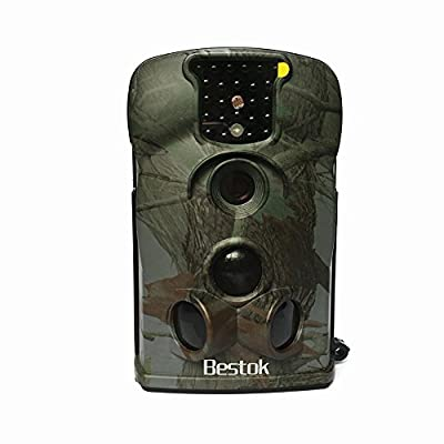 Bestok 12MP Digital Infrared Night Vision Outdoor Waterproof Wildlife Cam Scouting Stealth Trail Hunting Game Spy Camera Security Wide Angle + 4G SD Card