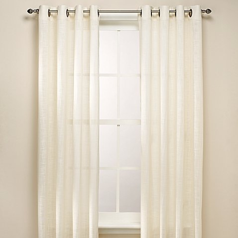 B. Smith Origami Grommet 108-Inch Window Curtain Panel in Ivory (Grommet Smith)