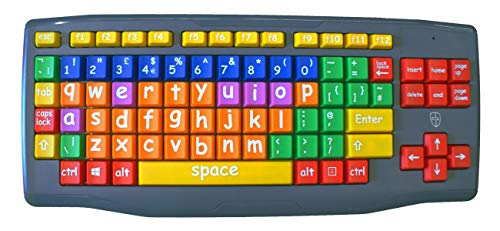 Large Key Large Print lower case coloured kids keyboard