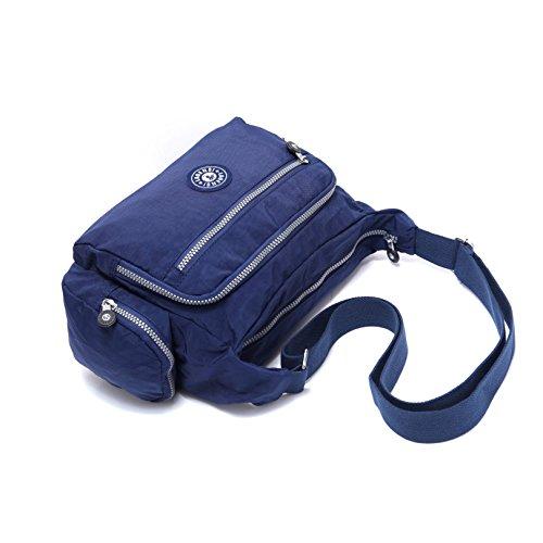 Multi Resistant Bag Bag Pocket KL1144 Unisex Crossbody Travel Nylon BEKILOLE Water Travel Shoulder Purse Blue Model Tvtgxwq