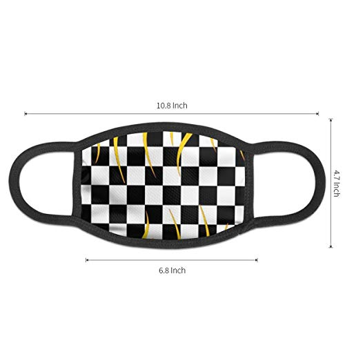Face Masks Checkerboard Squares Black & White Mouth Mask Reusable Face Dust Mask