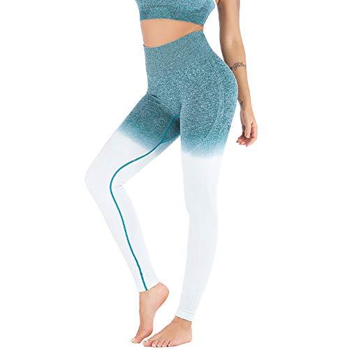 Women Sexy Fashion Seamless Stretch Yoga Pants Dots Jacquard Weave Workout Leggings Butt Lifting Gym Fitness Sport Capri (XL, Green) (Dot Green Pants Capri)