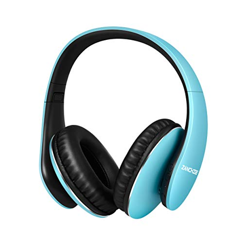 Wireless Headphones Over Ear, Hi-Fi Stereo Bluetooth Headset with Mic, 30hrs Playtime, Foldable Headphone with Soft Memory-Protein Earmuffs for Cell Phones TV PC Sport Travel Work