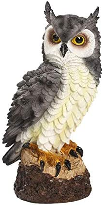 Resin Garden Owl Statue, Defender of the Garden,Owl Decorations for Outdoor Patio Lawn Yary 7