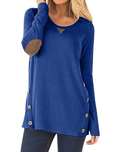 Prime Christmas Tunic Tops for Women New Year Gift Long Sleeve Tops Plain Fashion 2018 Size L