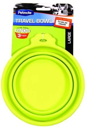 Petmate Silicone Round Travel Bowl for Dogs & Cats