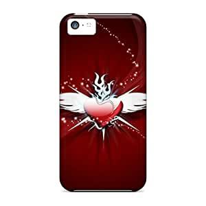 New Malailne Super Strong Heart Tpu Case Cover For Iphone 5c