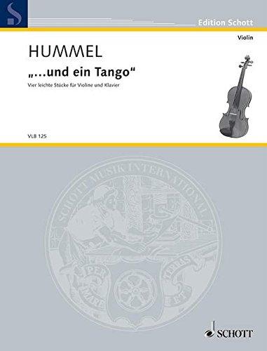 "... und ein Tango""""-Four Easy Pieces  violin and piano"