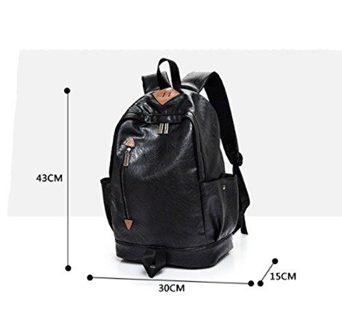 Leather Men Handbags Business Travel Casual Bag Shoulder Backpack Laidaye Pu 2 Sxnwqpan