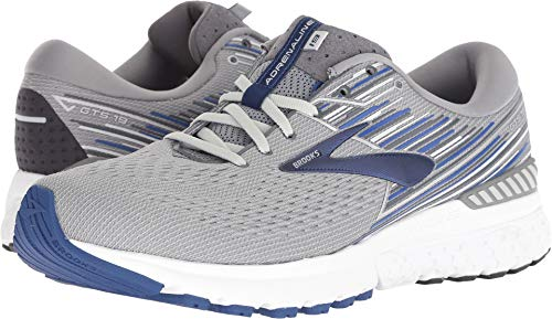 Brooks Men's Adrenaline GTS 19 Grey/Blue/Ebony 12 D US