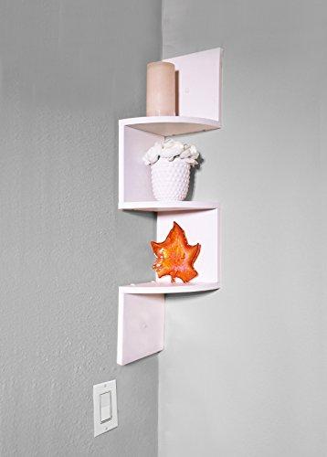 bathroom wall corner shelf unit - 5