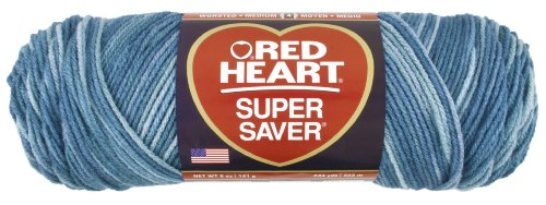 Red Heart Super Saver Economy Yarn, Blue Tones Print