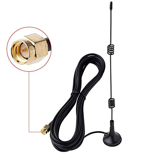 7dBi Gain HD Wireless Security Camera Video Antenna Extension for CCTV Security Camera/IP Camera, SMA Male Connector, 10ft RG174 Cable with Magnetic Stand Base