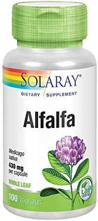 Solaray Alfalfa, 430 mg, 100 Count