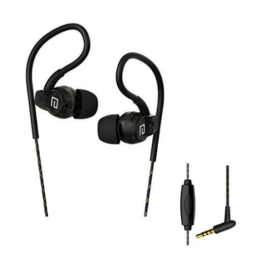 Over Ear Sweatproof Sport Headphones,Langsdom In Ear Exercise Earbuds with Remote and Mic ,Earhook Earphonesfor Running Gym Jogging for iPod iPhone and More( Black)