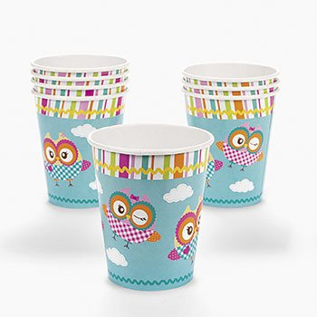 """You're A Hoot"" Owl Cups (8 pc)"