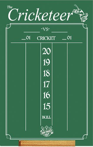Dart World Cricketeer Chalkboard ()