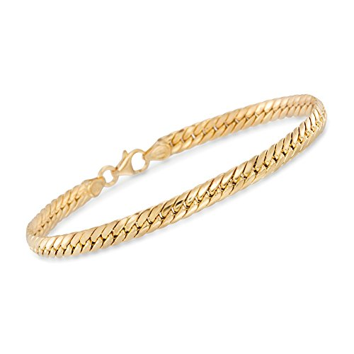 Ross-Simons Certified Italian 14kt Yellow Gold Cuban-Link Bracelet