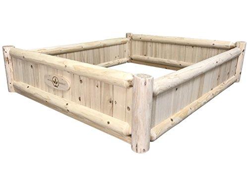 Left Drain Three Walls - Boldly Growing Raised Bed Wood Gardening Box - Starter Kit (3.5 x 4 Feet)