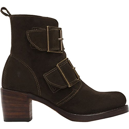 Frye Women's Sabrina Double Buckle Suede Boot Brown 6 M by FRYE (Image #3)