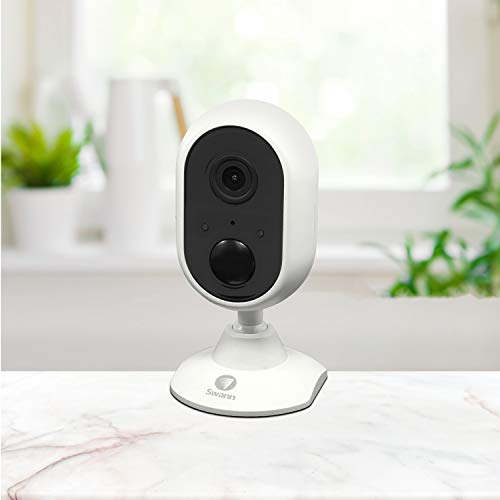 Swann Indoor/Outdoor WiFi Home Security Camera System Bundle, Weatherproof, Color Night Vision, Heat & Motion Light Sensor, Spotlights, 2-Way Talk and Siren, Model:SOWIFI-2SPOT1ALER-GL