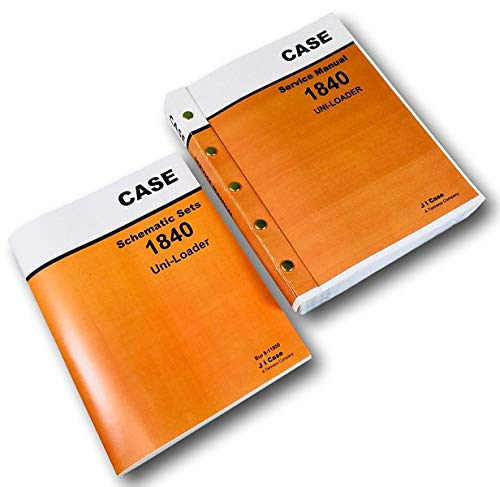 Case 1840 Uni-Loader Skid Steer Service Repair Schematics Manual Shop Book