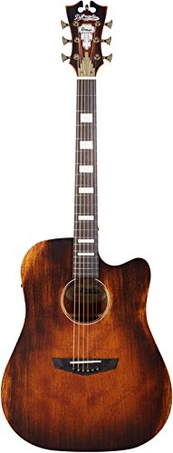 D'Angelico Premier Bowery Acoustic-Electric Guitar – Aged Natural