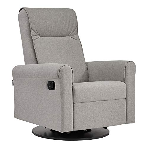 Dutailier Swivel Glider - Dutailier Nolita 0525 Upholstered Glider Recline and Swivel with Built-in Footrest