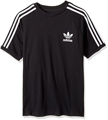 Price comparison product image adidas Originals Big Boys' Originals California Tee, Black/White, XL