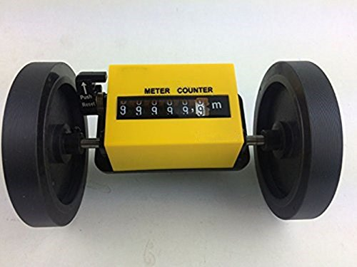 1-99999.9m Digtal Length Counter Meter High Precision Length Gauge Meter Length Measuring Meter Rolling Wheel with Reset Function