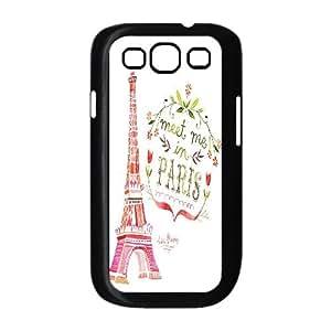 Qxhu Eiffel Tower Stripe Hard Plastic Back Protective case for Samsung Galaxy S3 I9300