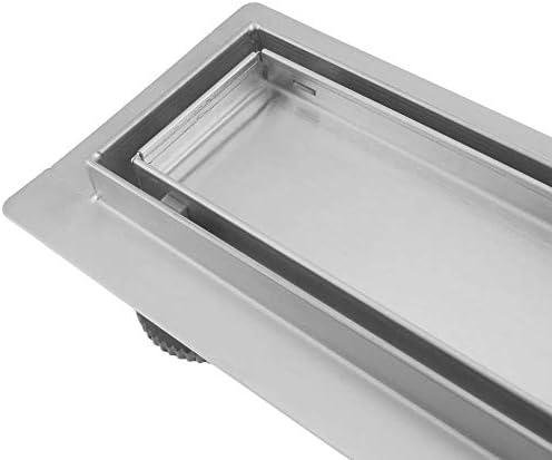 PrimeMatik - Canaleta de desagüe para Ducha 70x7 cm para azulejo en Acero Inoxidable: Amazon.es: Electrónica