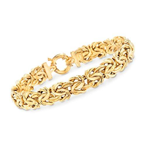 Ross-Simons Italian 18kt Yellow Gold Byzantine Bracelet ()