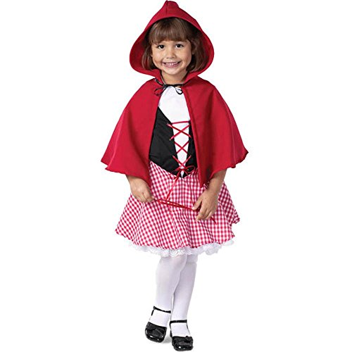 Deluxe Child Little Red Riding Hood Costumes (Fun Plus Girls Deluxe Red Riding Hood Costume)