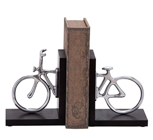 Deco 79 Aluminum Cycle Bookend Pair, 7 by (Bike Bookends)