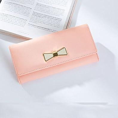 af17ecfdc556 ピンク他全6色 リボン長財布 レディース財布 財布 レディース 可愛い財布 (F7611