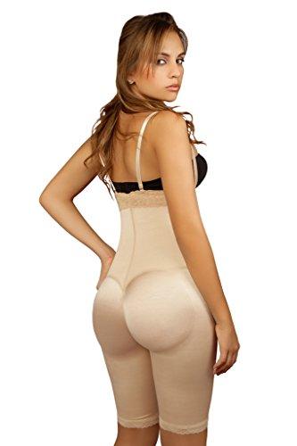9bdb2c2e8 Vedette Shapewear 135 Irina Strapless Mid Thigh Full Body Shaper Nude Large