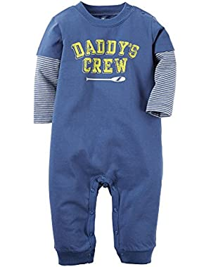 Carter's Graphic Romper, Daddy's Crew